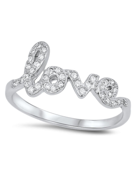 Sparkly Love Ring