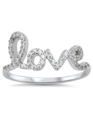 Sparkling Love CZ Ring