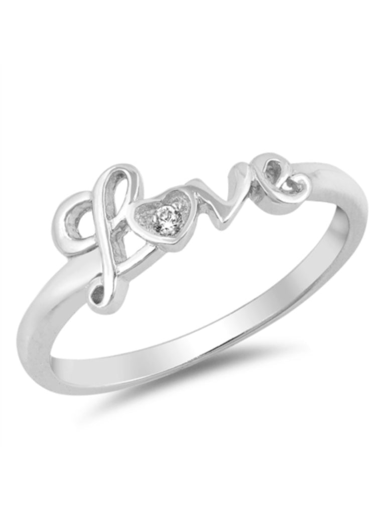 Glitzy Love CZ 925 Sterling Silver Ring, Thin Band with FREE Gift Box