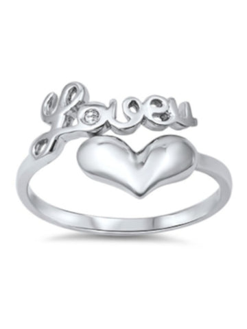 Love u And Heart Ring