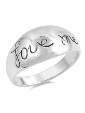 Love Me Sterling Silver Ring