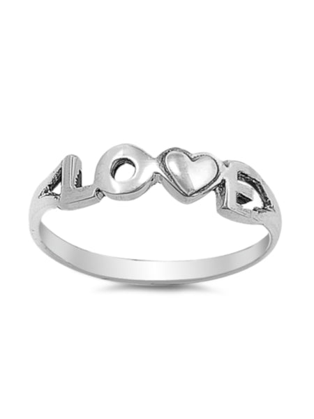 Simple LOVE Thin Band Ring