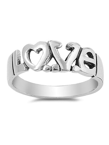 LOVE Thin Band Ring