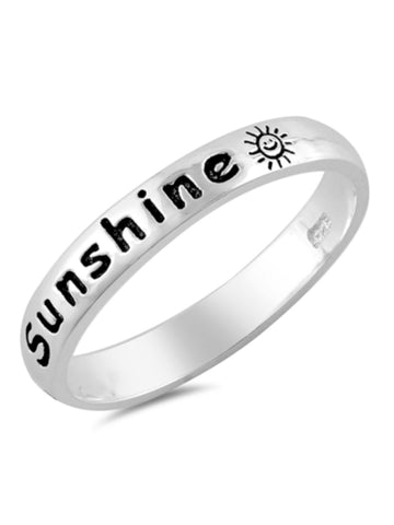 Promise Jewelry Sterling Silver 925 Band North Arrow Shop You are My Sunshine Ring