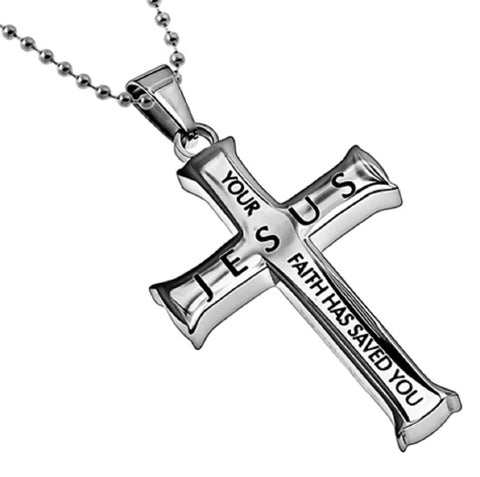 Saved By Faith Luke Necklace