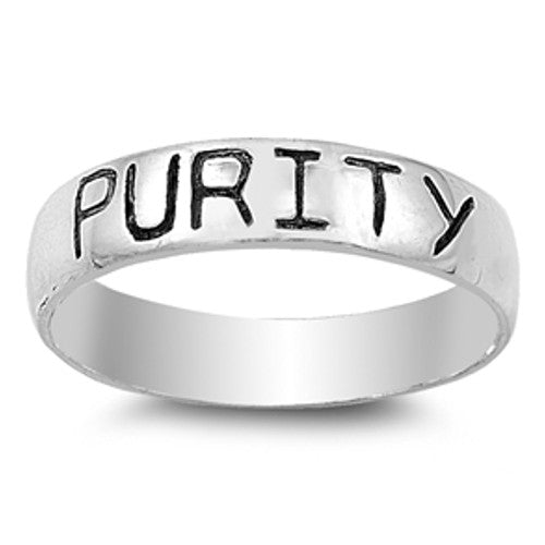 Silver PURITY Word Ring