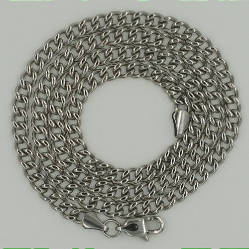 Stainless Steel Curb Chain Necklace For Men