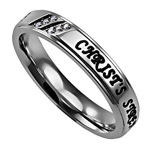 Stainless Steel Inspirational Ring Philippians 4:13