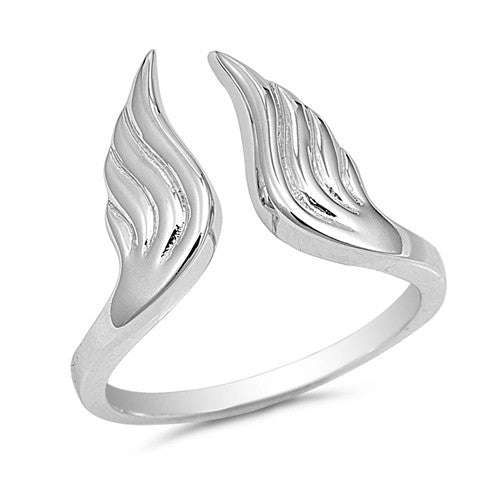 Sterling Silver Angel Ring for Girls