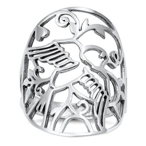 Christian Dove Ring, Sterling Silver with Jewelry Gift Box