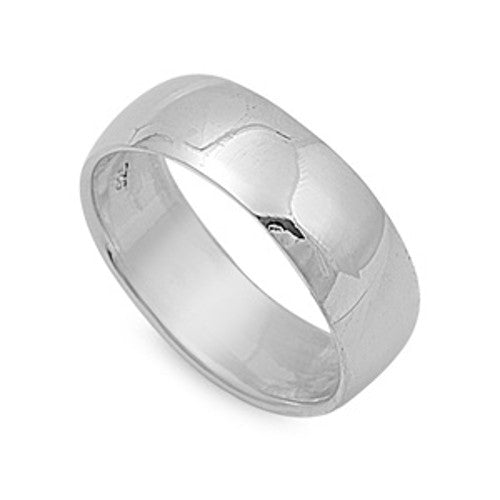Sterling Silver Engraved JESUS Ring 8 mm Wide