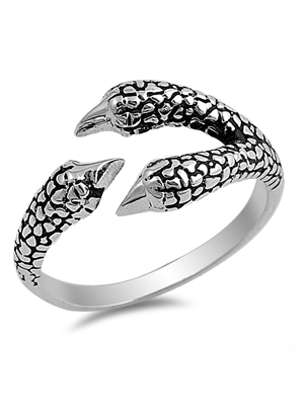 Sterling Silver Open End Claw Ring