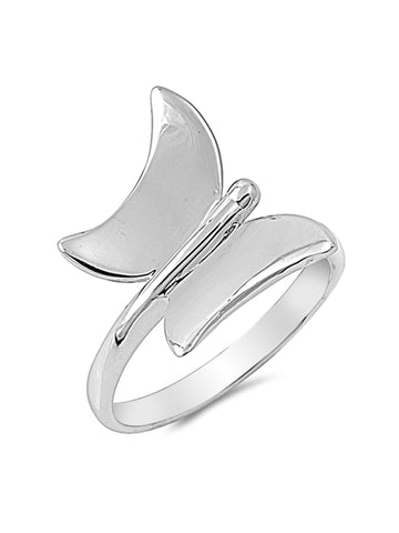 Sterling Silver Petite Butterfly Ring