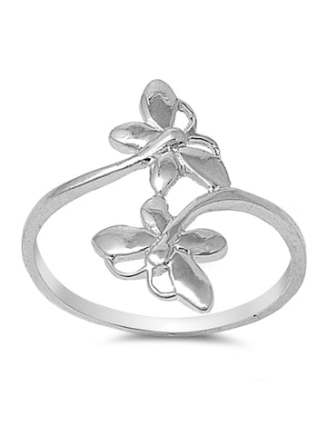 Sterling Silver Twin Butterfly Ring