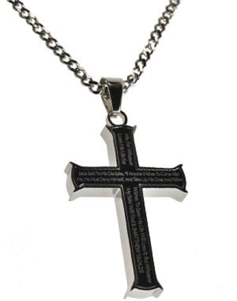 Take Up Your Cross Curb Necklace