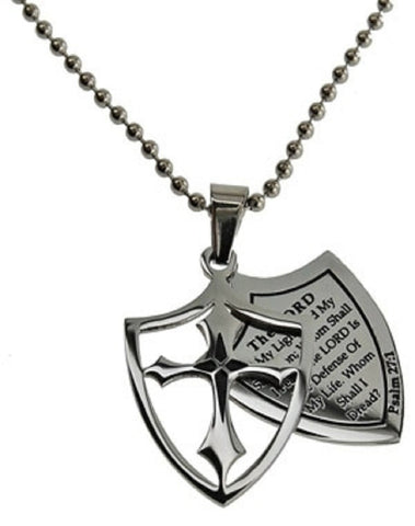 The Lord Is My Light Psalm Necklace