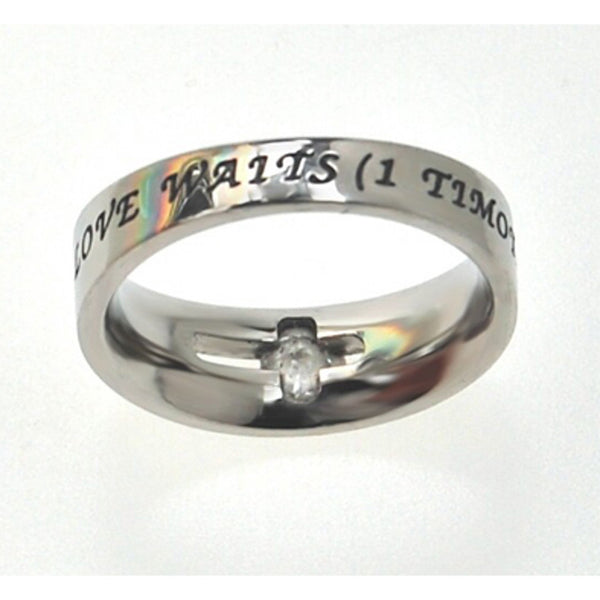 True Love Waits 1 Timothy 412 Ring