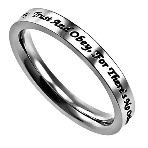 Trust And Obey Christian Ring