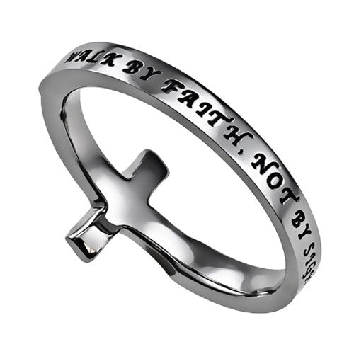 Sideways Cross Ring Faith
