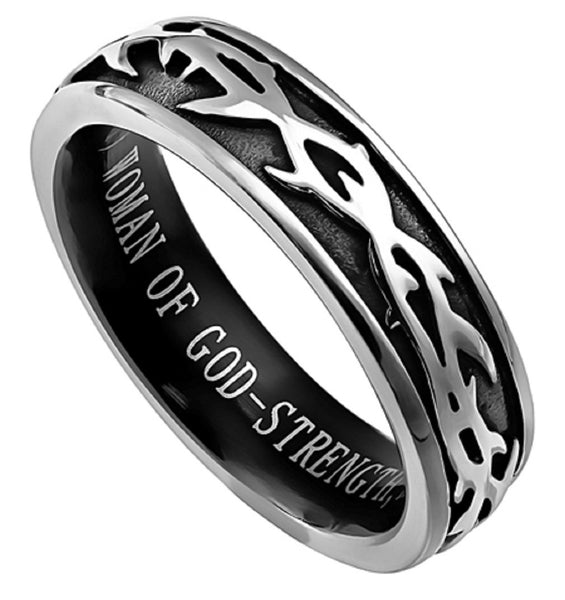 Woman Of God Proverbs Ring