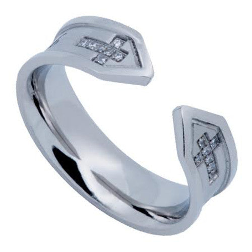 Adjustable Women Cross Ring