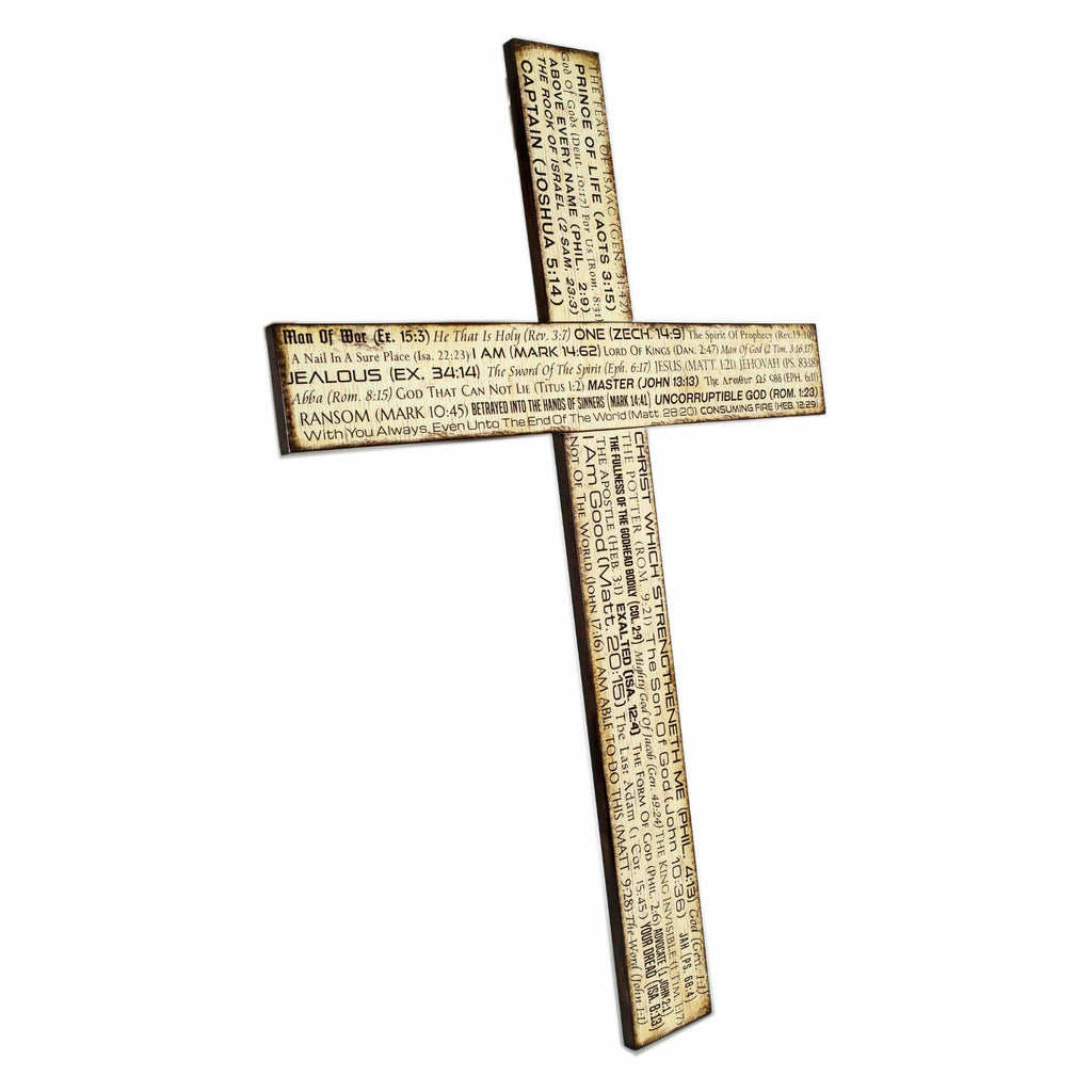 Wooden Cross For Home God Bible Verse BIG