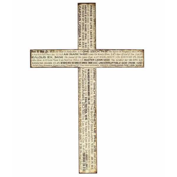 Wooden Cross Wall For Home God Bible Verse Large