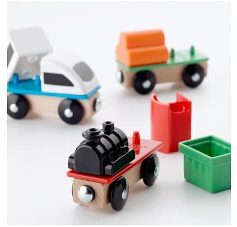Modern 3-piece Train Set LILLABO by IKEA