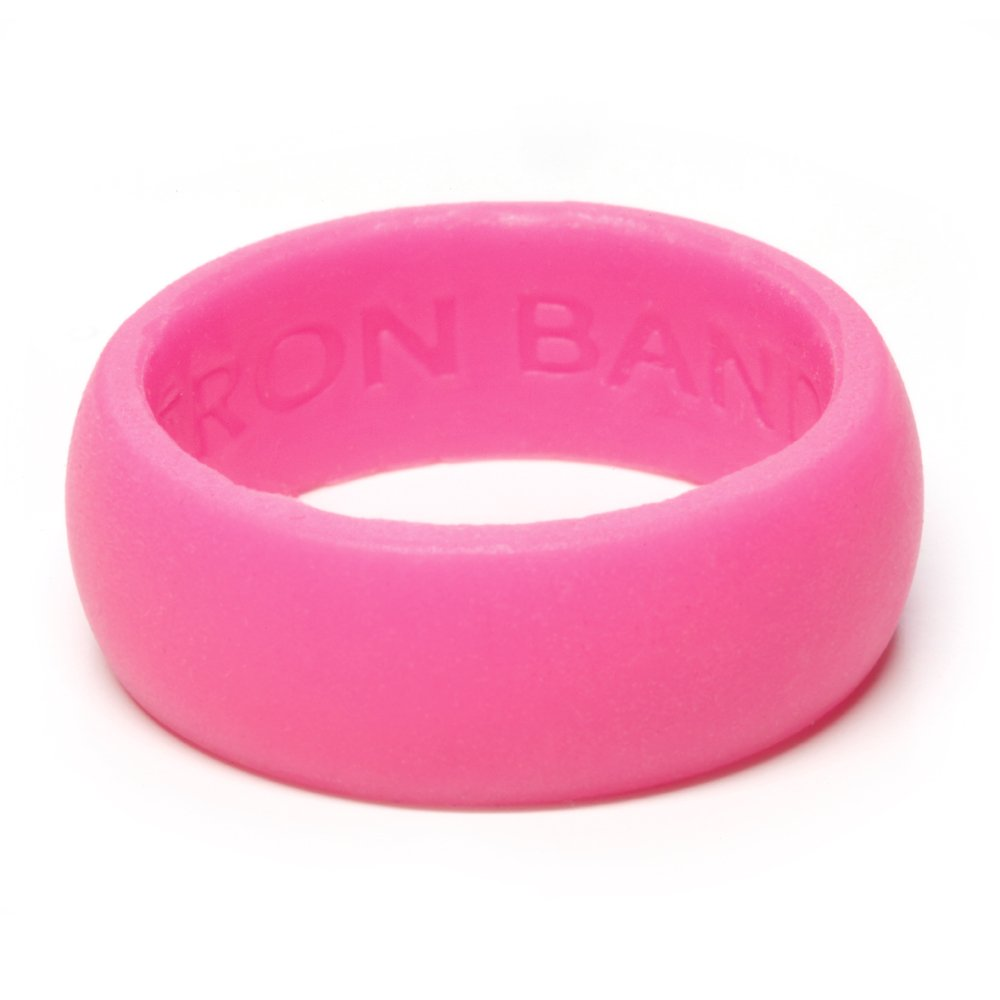 Iron Band Fitness 3 Pack Women Silicone Wedding Ring Lime Green, Pink, Purple