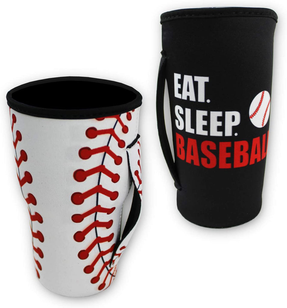 Urbanifi Softball Reusable Tumbler Cup Sleeve Neoprene Insulated Cooler Holder for 30oz-32oz Tumbler Cup Gift (2 Pack, Sleeve Only)
