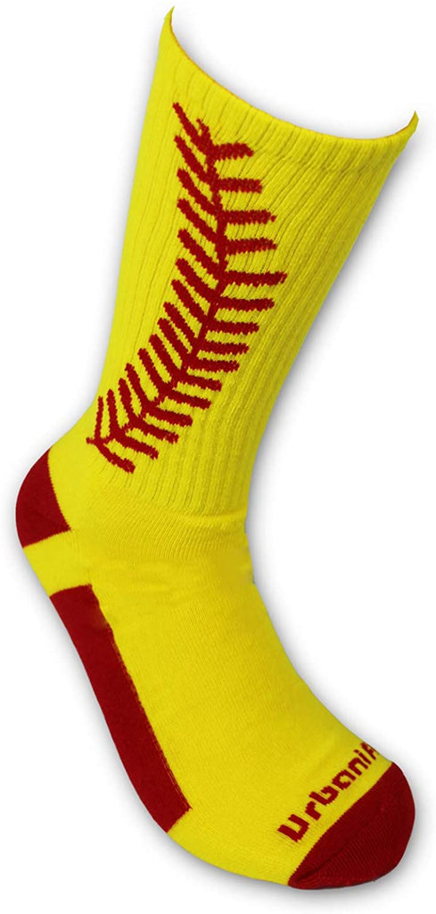 Urbanifi Athletic Sports Mid-Calf Socks Boys Coach Men Women Girls Players Gift Baseball Softball