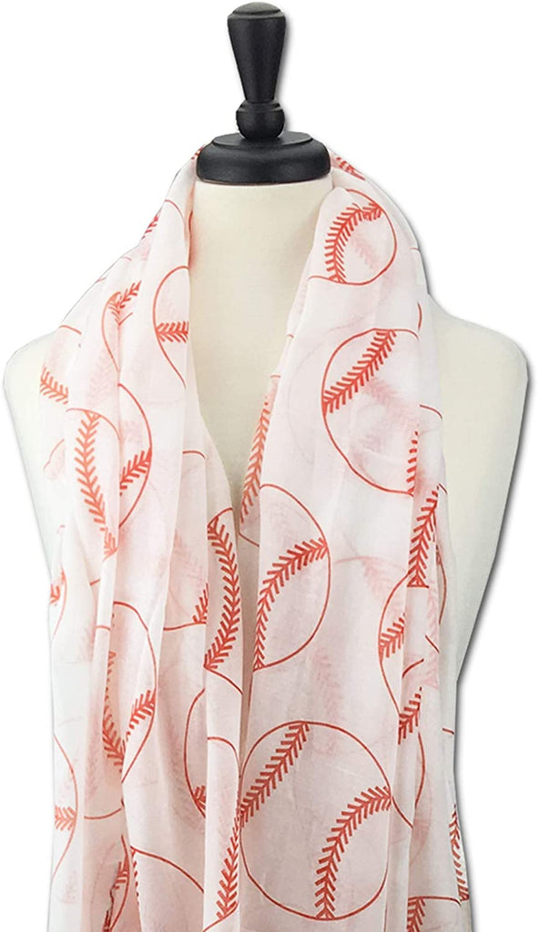 KnitPopShop Baseball Scarf for Women Mom Team Sports Travel