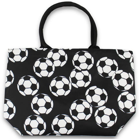 Urbanifi Soccer Sports Prints Utility Canvas Tote Bag Handbag Large Oversized Mom