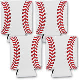 Baseball 4 Can Cooler Neoprene Collapsible Holder Insulator Sleeve (4 Count)