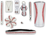 Iron Band VIP Baseball Mom Gift Bundle, Baseball 20 OZ Tumbler, Headband, Keychain, 2 Pairs of Baseball Earrings, Baseball Necklace, Hairbow, Ring for Sports Fan Men Women