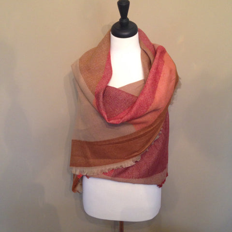 Sunset Blanket Scarf by KnitPopShop