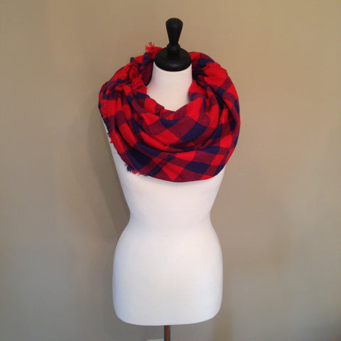 Buffalo Plaid Scarf by KnitPopShop
