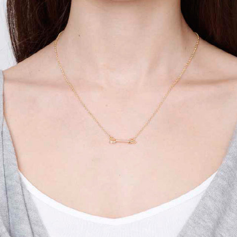 Gold Arrow Charm Necklace