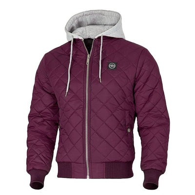 Hooded Urban Winter Jacket ATWATER Burgundy PIT BULL WEST COAST