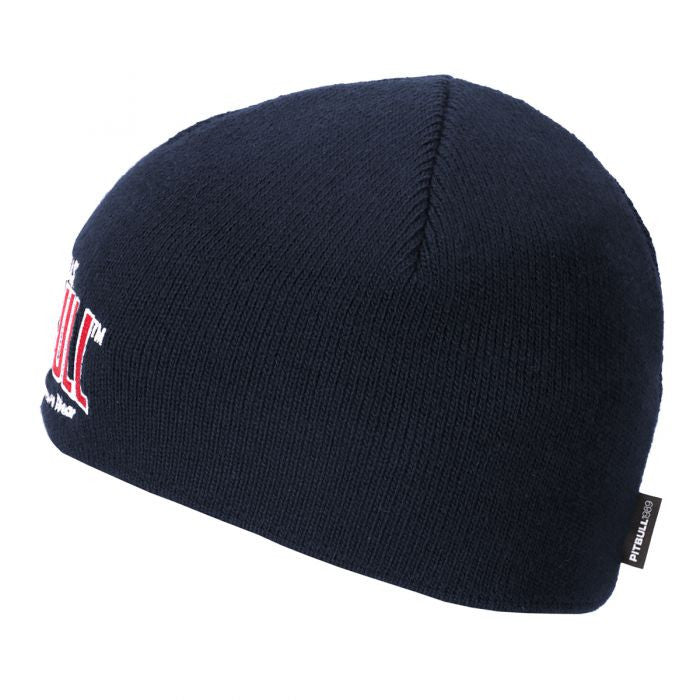 Pacific Wool Beanie Hat in Dark Navy or Red