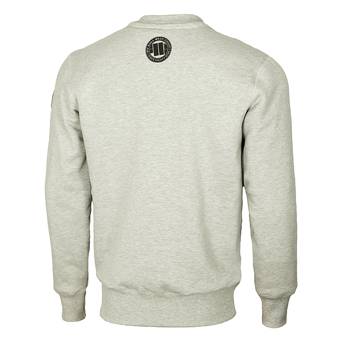 PIT BULL WEST COAST Crewneck Sweatshirt Classic Logo 17 GREY