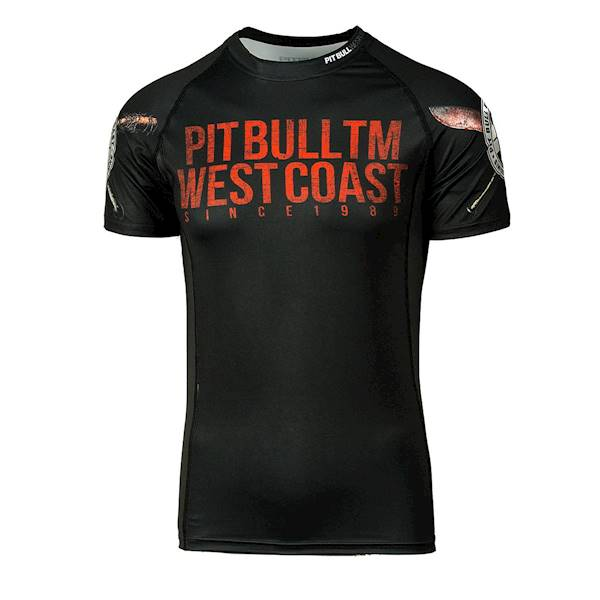 Pit Bull West Coast Short Sleeve Rashguard 'Business As Usual'