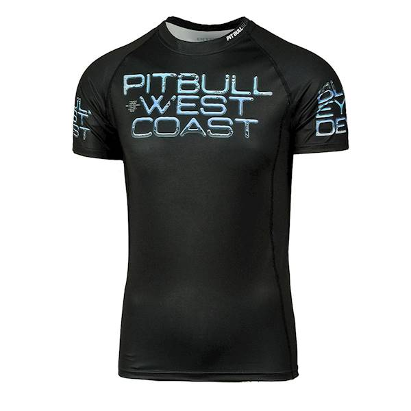 Pit Bull West Coast Short Sleeve Rashguard 'Blue Eyed Devil X'