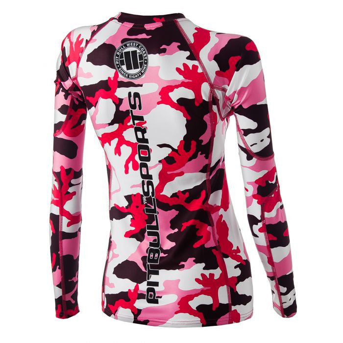 Camo Pink Women Long Sleeve Rash Guard