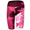 Camo 2 Pink 1/2 Women Compression Shorts