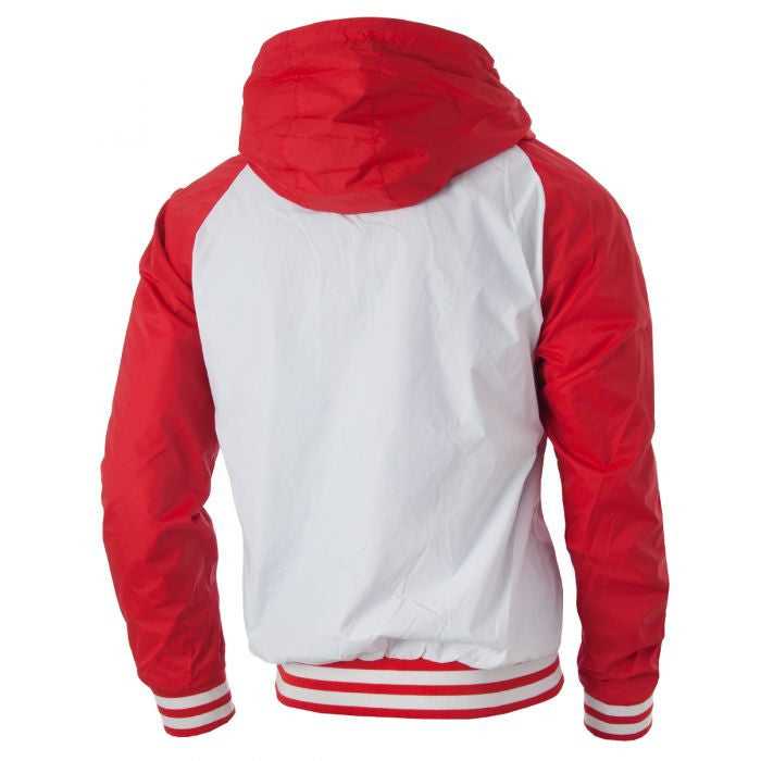 """Highland"" Jacket in White/Red"