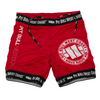 Pit Bull West Coast Vale Tudo Fight Shorts - Red