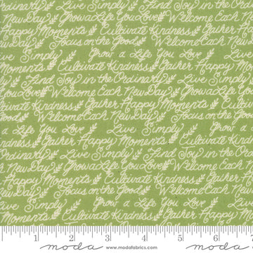 Cultivate Kindness Moss Green 1/2 yard 19933 17