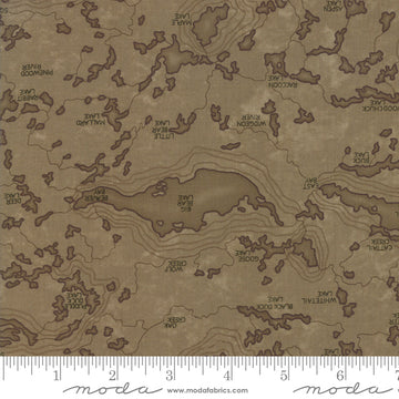 Lake Views Brown 1/2 yard 6802 20