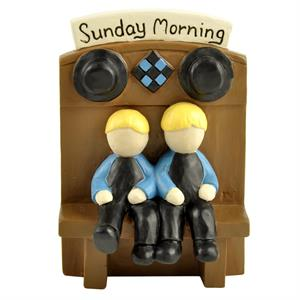 Sunday Morning Amish kids Figurine